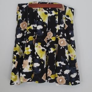 Cleo patterned fit and flare midi skirt size 14